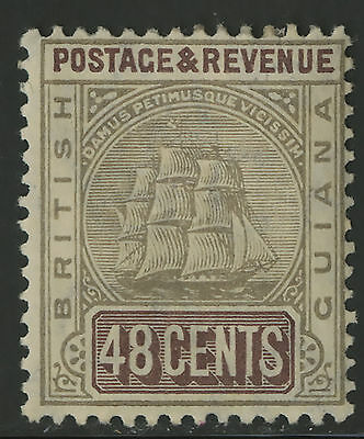 British Guiana  1905-10  Scott # 167  Mint Hinged