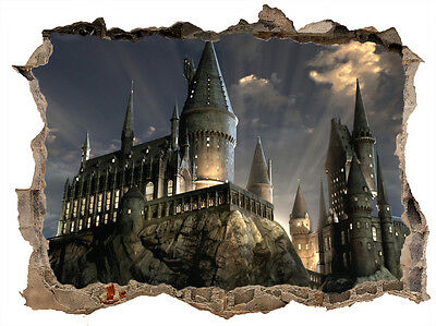 Harry Potter Hogwarts Castle Smashed Hole In Wall Decal