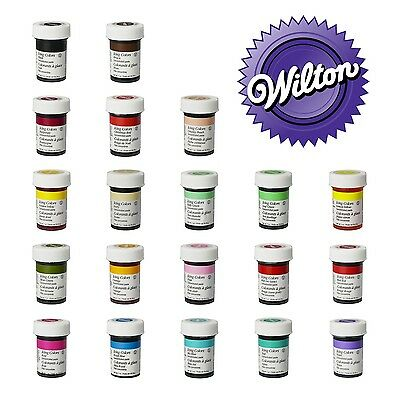 Wilton Full Set of 20 Icing Colour - Gel Paste Sugarcraft Food Colouring