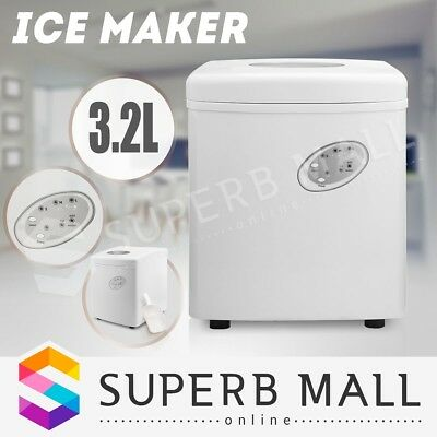 3.2L Portable Cube Ice Maker Machine w/ LCD Control Panel Home Easy Auto Snow WH
