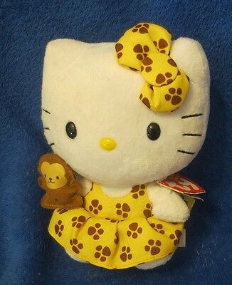 Ty Beanie Baby Hello Kitty Safari with Monkey