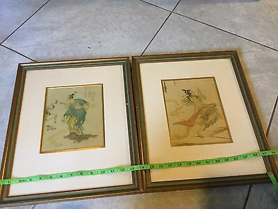 Antique CHINESE PAINTINGS SET OF TWO Framed