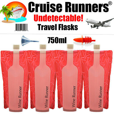 Cruise Flask Kit Wine Rum Runners Sneak Smuggle Alcohol Liquor Booze Plastic