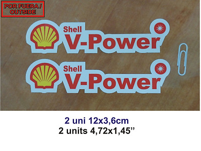 Adhesivo Pegatina Sticker Decal Aufkleber Autocollant Vinyl X2 Shell V-Power