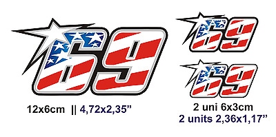 Pegatina Aufkleber Decal Sticker Vinyl Vinilo Nicky Hayden 69 Superbikes Moto Gp