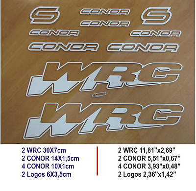 Adhesivo Pegatina Sticker Decal Aufkleber Autocollant Conor Wrc