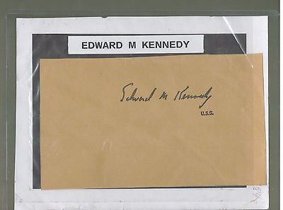 "EDWARD M. ""TED""  KENNEDY U.S. Senator Signature AUTO AUTOGRAPH JOHNS BROTHER RIP"