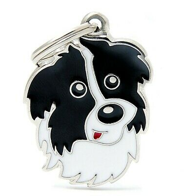 Border Collie Dog ID Tag - Engraved FREE - Personalised Identity Charm  Keyring