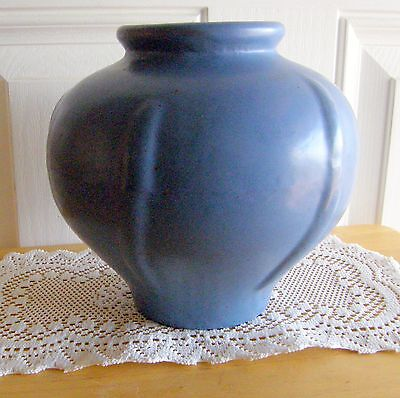 Rare Early Catalina Pottery Vase Monterey Blue Circa 1927-1929 Must See