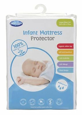 Playgro Large Fitted Cot Protector Organic  Bnwt