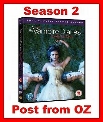 The Vampire Diaries: Complete Season 2 - New R4 DVD -TV Series Two Second 5 Disc