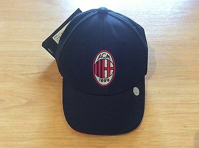 Ac Milan Italy Rare Adidas Cap Hat Bnwt Fitted Kids Size S/m
