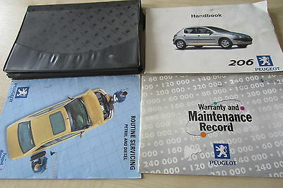 PEUGEOT 206 1998-2003 Owners Manual Handbook & SERVICE BOOK with Wallet Pack