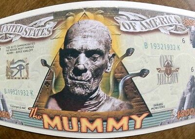 The Mummy FREE SHIPPING! Halloween Million-dollar novelty bill