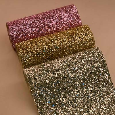 Chunky Glitter Fabric Grade 3D Wall Bling Card Making Table Runner Bow Art Craft