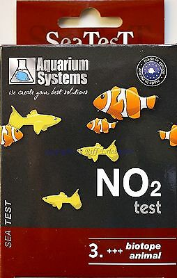 Sea Test Nitrit Test MHD 12/15 Aquarium Systems NO2 Wassertest Süß- Meerwasser