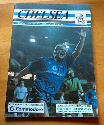 Chelsea V Sheffield Wednesday 24/2/1991 League Cup Semi Final