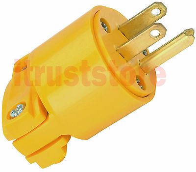 Industrial 125 Volt Male Electric Plug 3 Wire Connector 15 Amps 125V NEMA 5-15P