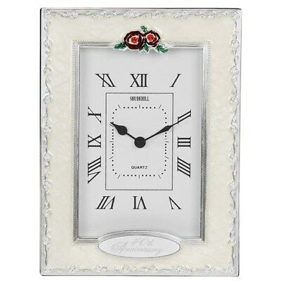 40th Wedding Anniversary Table Clock, Ruby Wedding Anniversary Present Gift