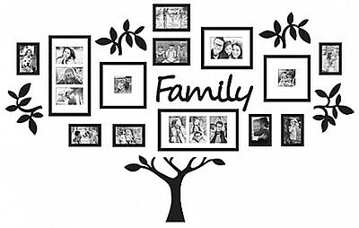 Family Tree Set Photo Picture Frame Collage Home Decor Wall Art