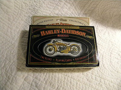 Harley Davidson Numbered Limited Edition Tin & Playing Cards/Cards Never Opened