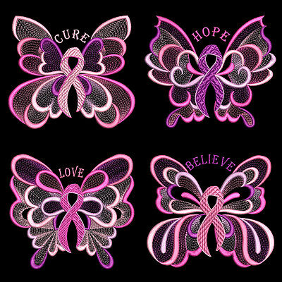 Pink Pride - 30 Machine Embroidery Designs (Azeb)