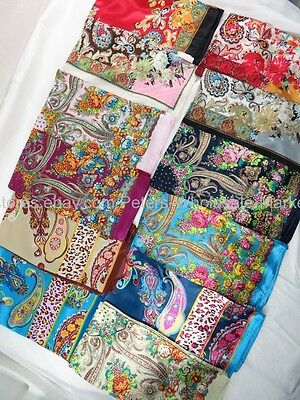"US Seller-10pcs flower retro paisley 36"" satin large square Fashion scarf sale"
