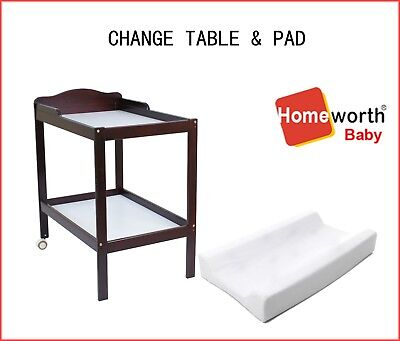 NEW BW01 CHANGE TABLE 2 TIER white WITH  CHANGE PAD cot crib bed babychanger
