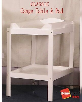 NEW BW02 CHANGE TABLE 2 TIER white WITH  CHANGE PAD cot crib bed baby changer