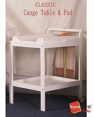 BW03 CHANGE TABLE 2 TIER CHANGE PAD Mat Mattress cot crib bed baby changer white