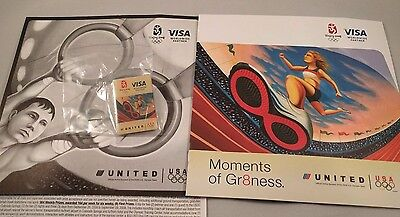 2008 Beijing Olympics United Airlines VISA Sponsor Moments of Greatness Pin Pack