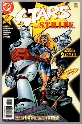 STARS and STRIPE #0 VF/NM 9.0 1st appearance of Star Girl Geoff Johns HOT