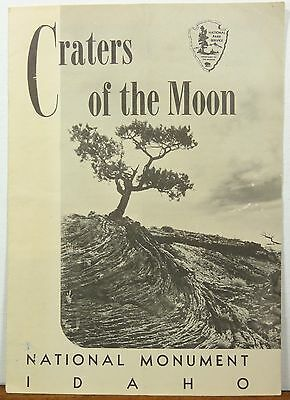 1958 Craters of the Moon National Monument Idaho vintage info brochure map b