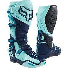 New 2016 Fox Instinct Boots - Seca Ice Blue Motocross