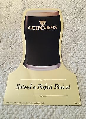 "Guinness Bar 10 Paper Signs To Be Personalized ""Raise a Pint"" Lager Glass Shape"