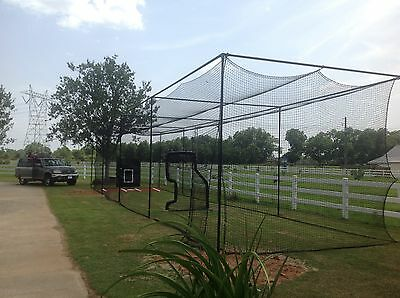 Baseball netting batting cage 10x10x30 ft. net only no frame little league home