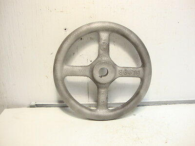 "Vintage 7"" Cast Iron 4 Spoke Valve Machine Handle Steampunk  Art Linde Wolf"