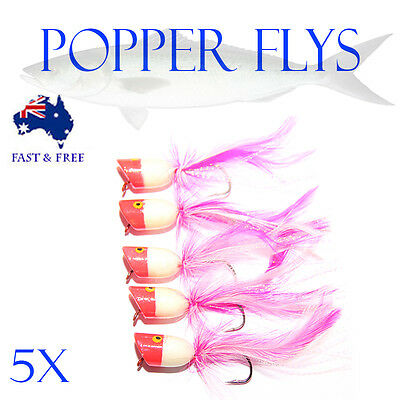 Surf Popper Foam Fly Fishing Lures Freshwater Flies Shrimps Bugs BASS Tackle