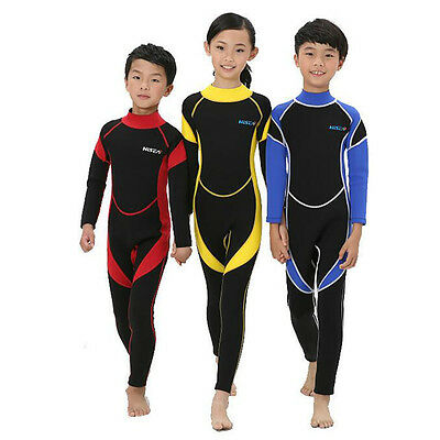 2mm Neoprene Wetsuit for Kids Boys Girls Surfing Snorkling Diving One Piece