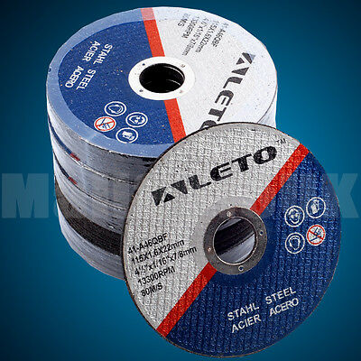 "50x GERMAN ENGINEERED THIN METAL CUTTING DISC 115mm/4.5"" Angle Grinder Blade"