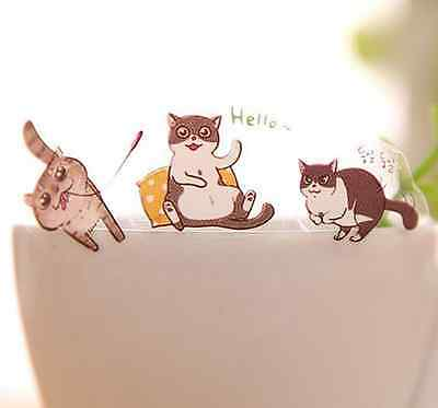 Cute Cats Designs Decoration Paper Pvc Sticker Decorative Label Diary Decor ca