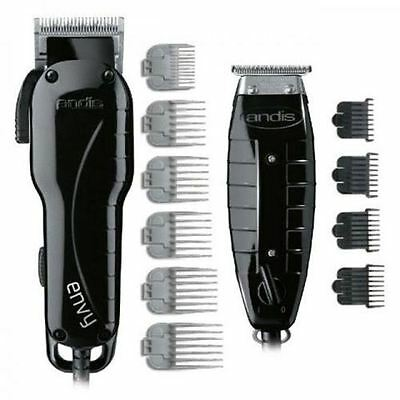 Andis Professional Stylist Combo T-Outliner Trimmer + Envy Clipper Black 66280