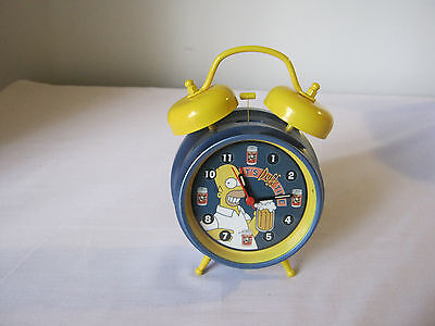 Simpsons alarm clock Its duff time classic bell clock Homer Simpson Collectable
