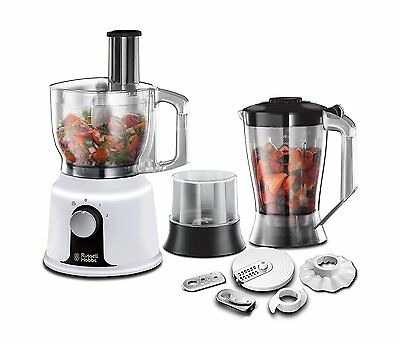 Russell Hobbs 19005 Aura Food Processor 1.5L, 600W in White - Brand NEW UK Stock
