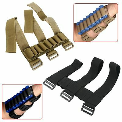Military Shotgun Shell Holder Forearm Carrier Shooter Sleeve Mag Pouch Great