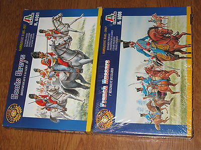 Italeri 1/72  Scots Greys & French Hussars toy soldiers MIB lot of 2 boxes 90's