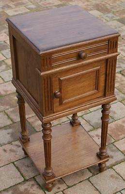 A FINE LATE 19th CENTURY FRENCH CHESTNUT  BEDSIDE CABINET