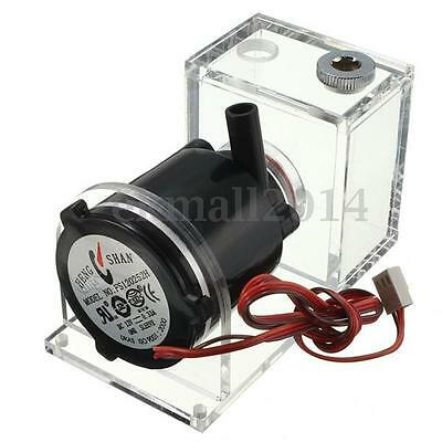 DC 12V Brushless Water Pump Tank for Computer PC CPU Liquid Cooling Black Hot