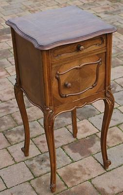 A FINE LATE 19th CENTURY FRENCH WALNUT LOUIS XV STYLE  BEDSIDE CABINET