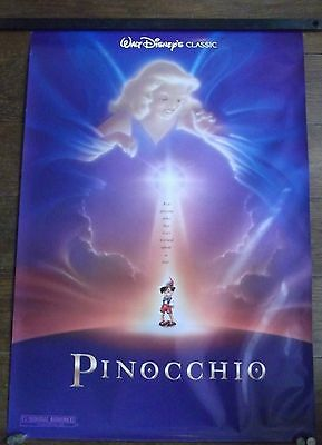 Pinocchio, Original DS Rolled Movie Poster, Classic Walt Disney, '92